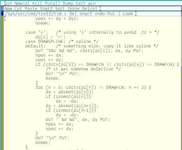 screenshot of a text editor with the Operator font